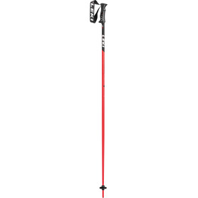 LEKI Primacy Ride Bastoncini da sci, black/white/neon red